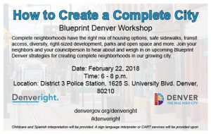 Upcoming Blueprint Denver Workshop