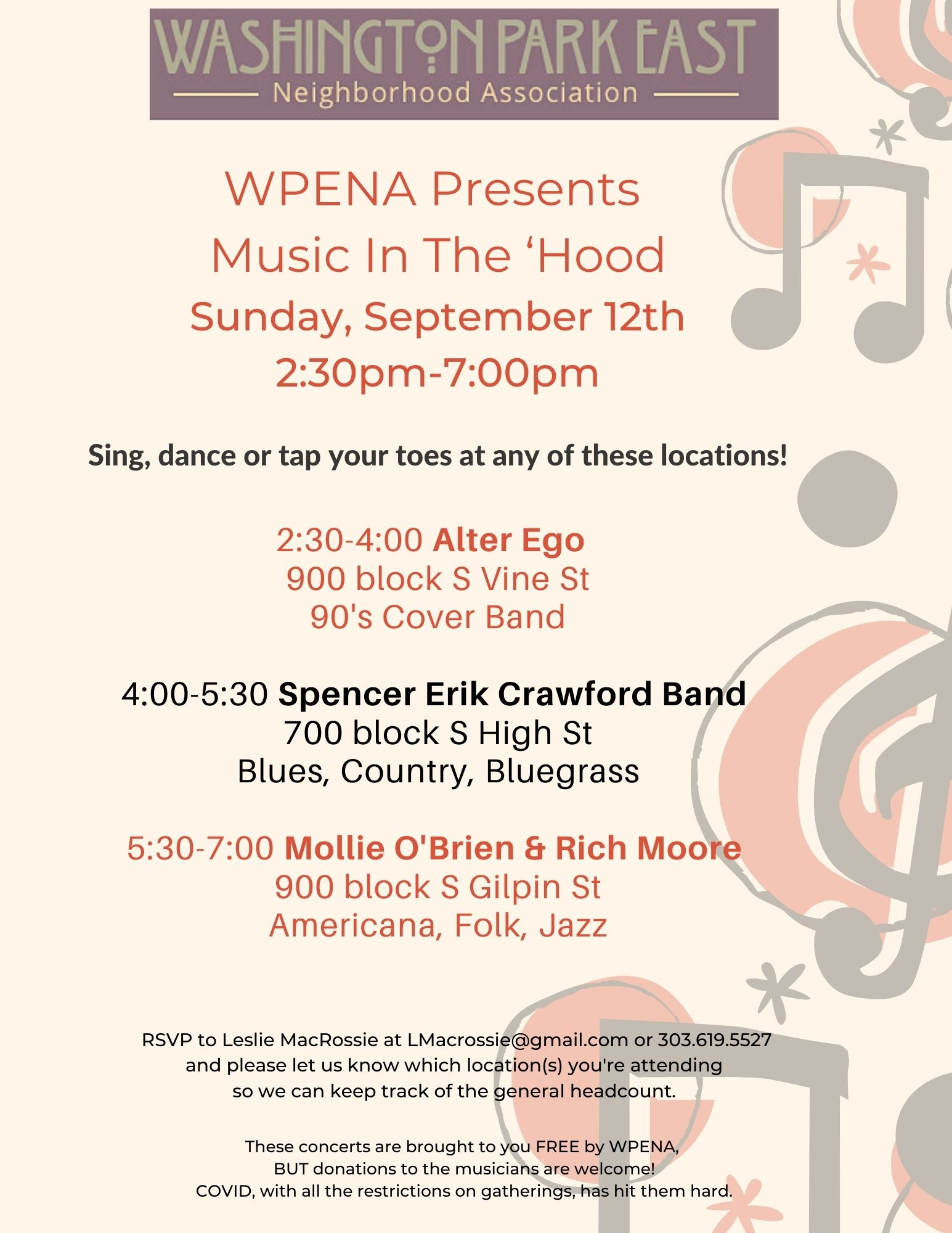 WPENA FALL CONCERT: MUSIC IN THE 'HOOD